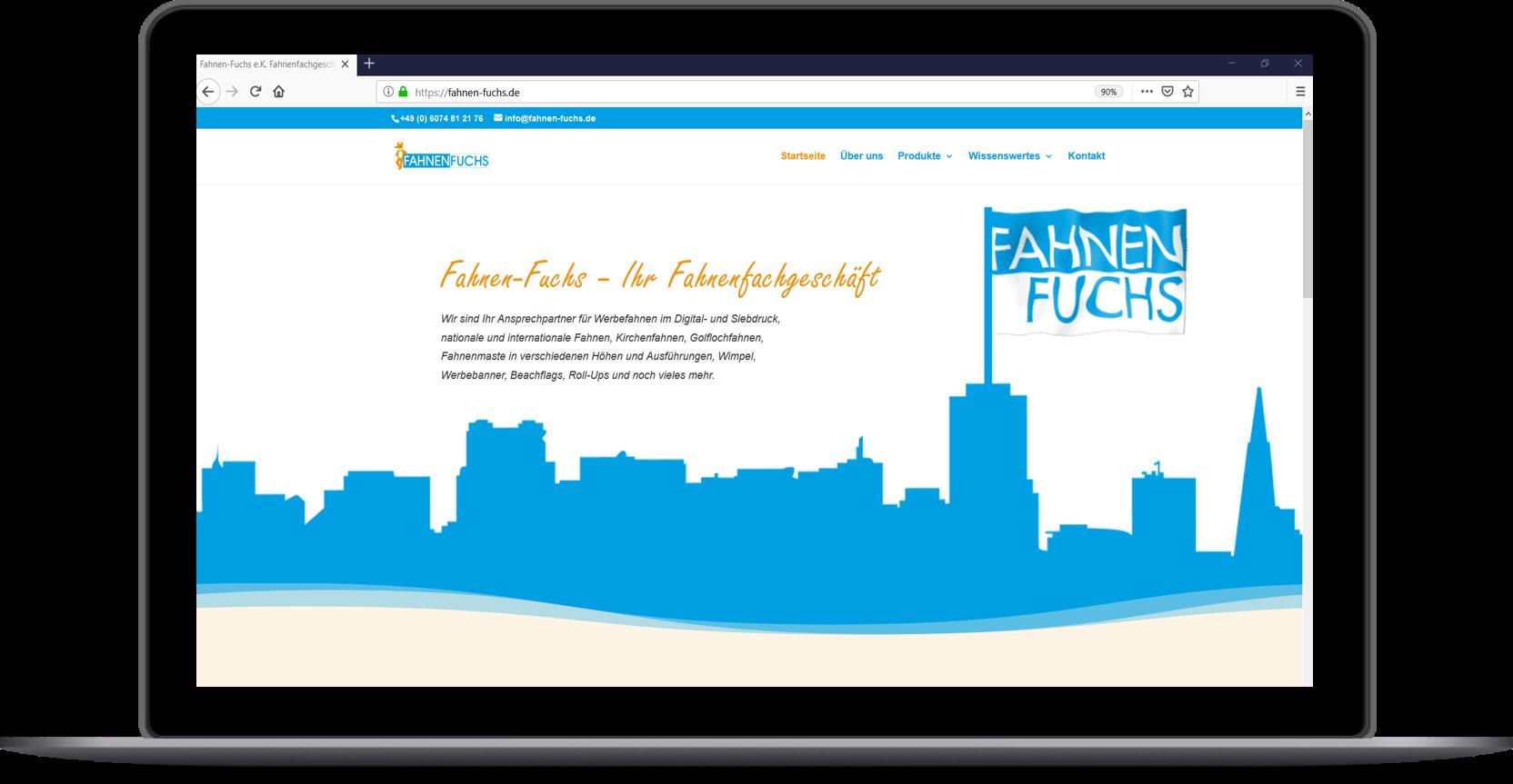 Internetauftritt Fachhandel - Website_FahnenFuchs_Dietzenbach