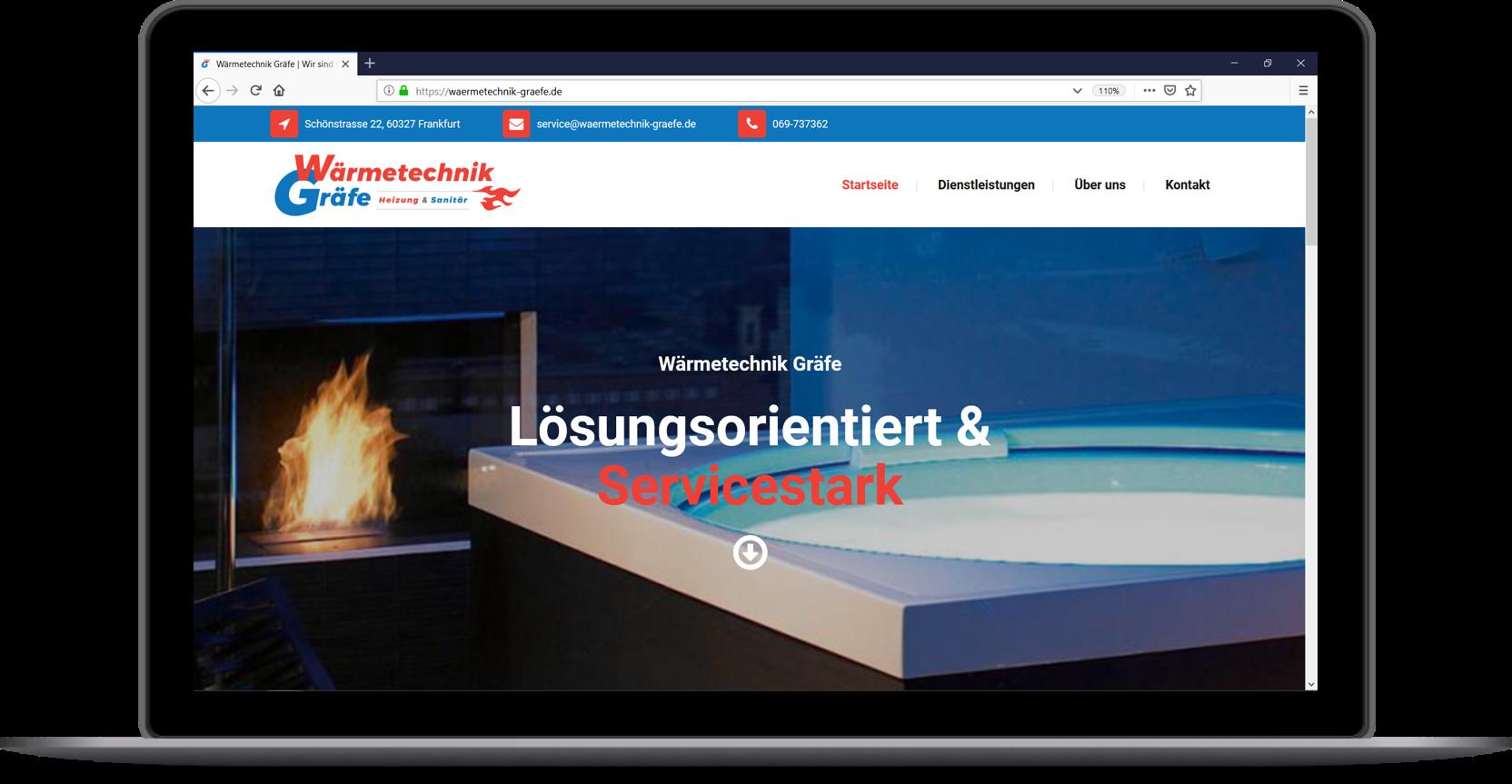 Homepage Handwerk Heizung Sanitär Wärmetechnik Gräfe Frankfurt