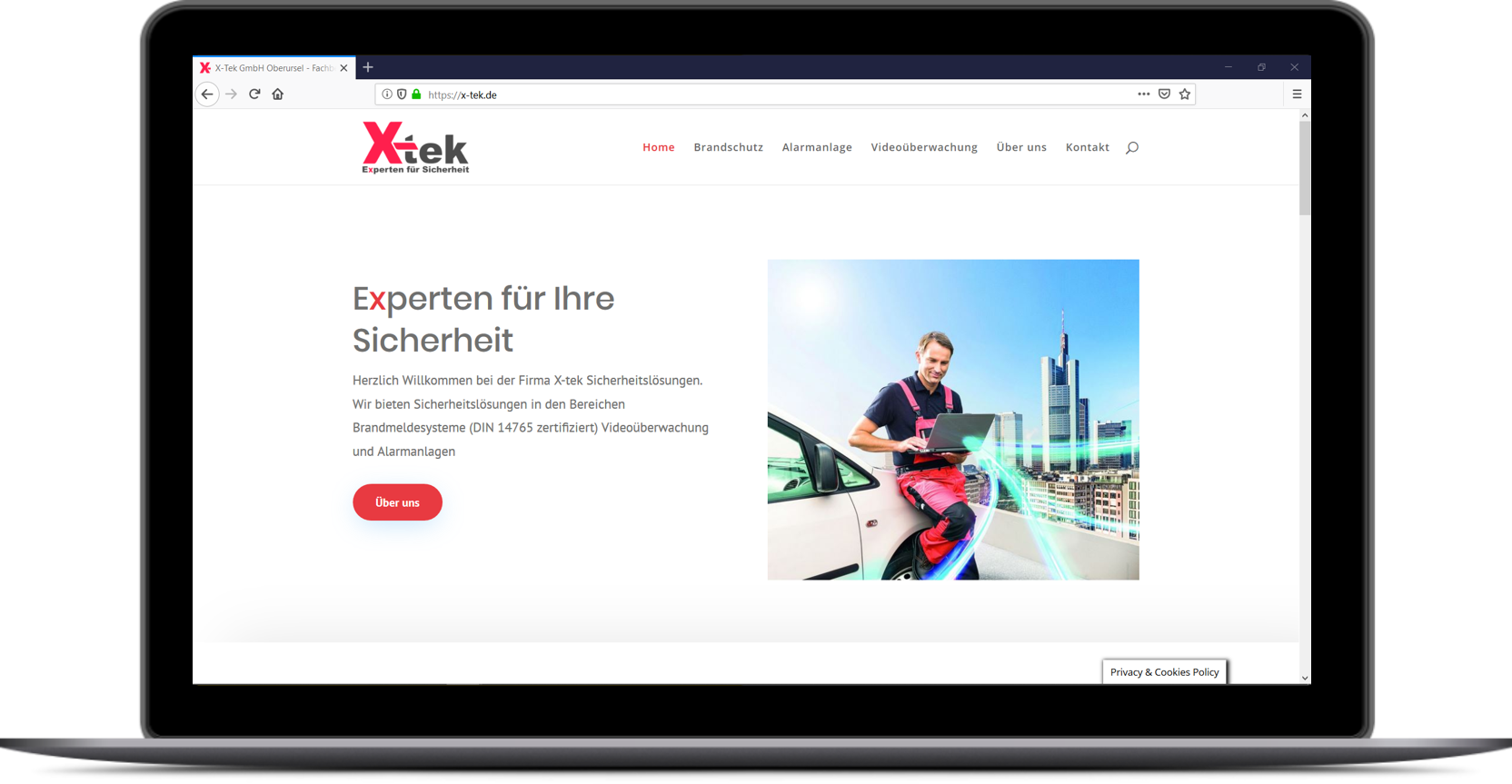 Website Handwerk Brandschutz Sicherheitstechnik X-Tek_Sicherheitsexperten_Oberursel