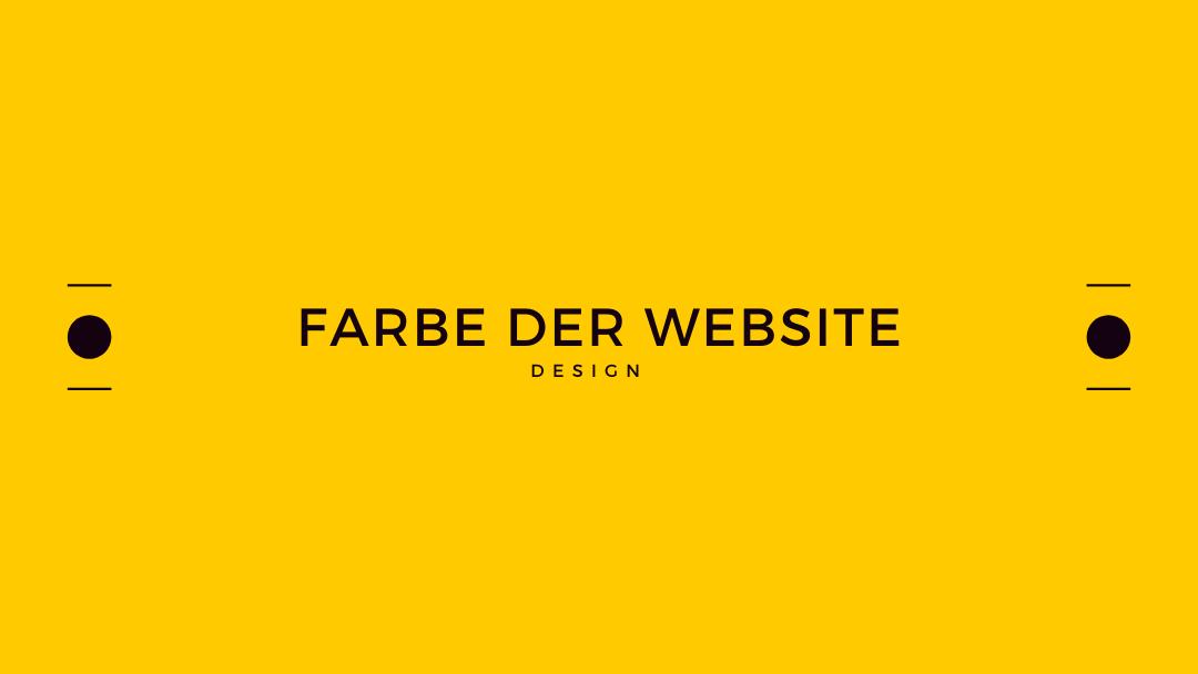 Farbe der Website finden